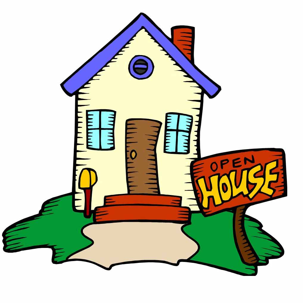 free clip art open house - photo #22