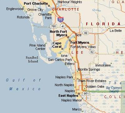 map of southwest florida cities deboomfotografie