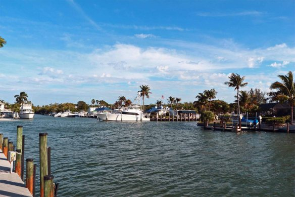 From Mariner Pointe looking toward the Sanibel Marina 01-31-2013