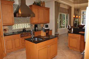 Cropped Kitchen island