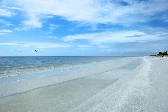 Beach in front of Sanibel Moorings