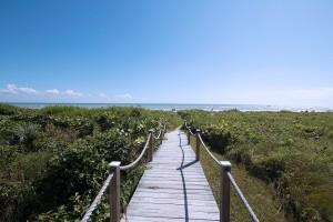 Beach walk at Coquina Beach