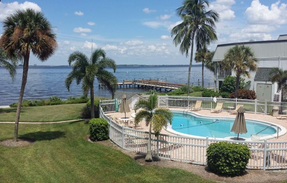 Pool to bay view