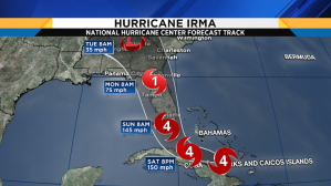 Hurricane irma map