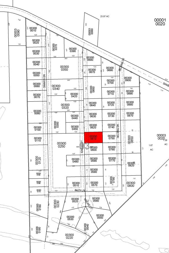 Community Plat - w lot highlighted