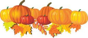 fall leaves pumpkins