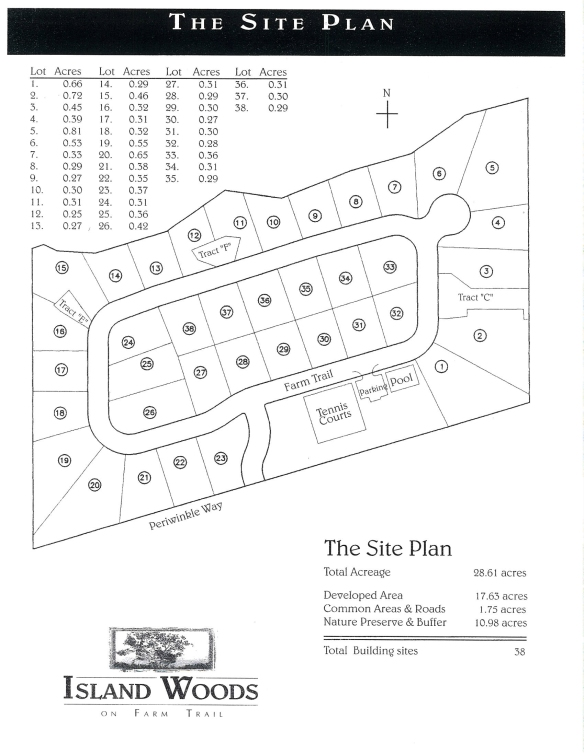 Developer Island Woods Site Plan